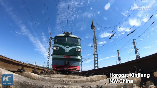 Xinjiang's border port sees over 4,000 trips by China-Europe freight trains